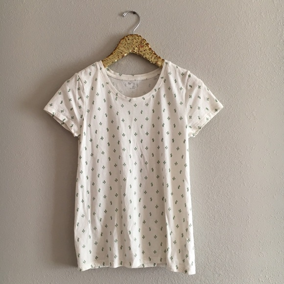 94221a794 GAP Tops | Sm Mini Cactus On Cream T Shirt | Poshmark